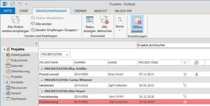 InLoox 9 Offline-Fähigkeit