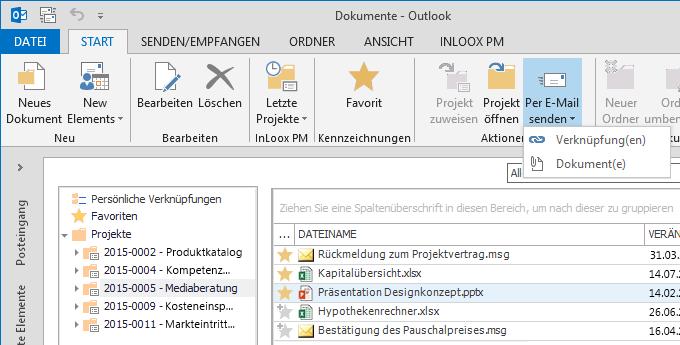 InLoox Zeitsparende Dokumentenverwaltung