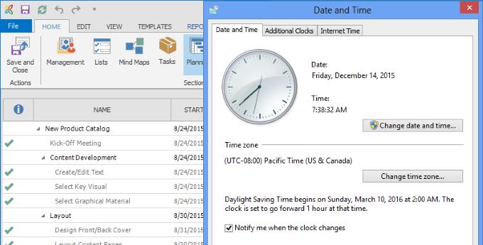InLoox 9 Time Zones