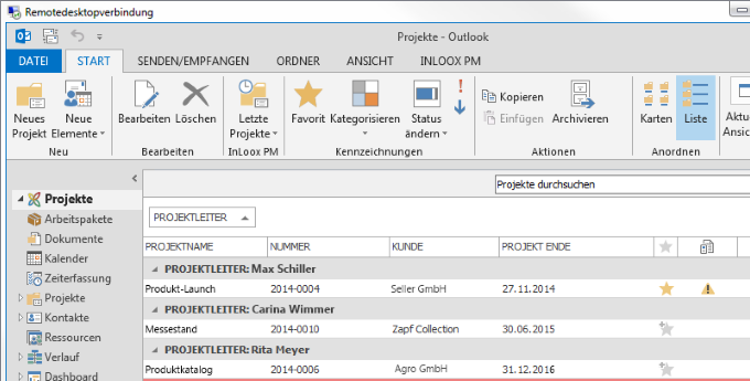 InLoox 9 Unterstützung für Windows Terminal Server