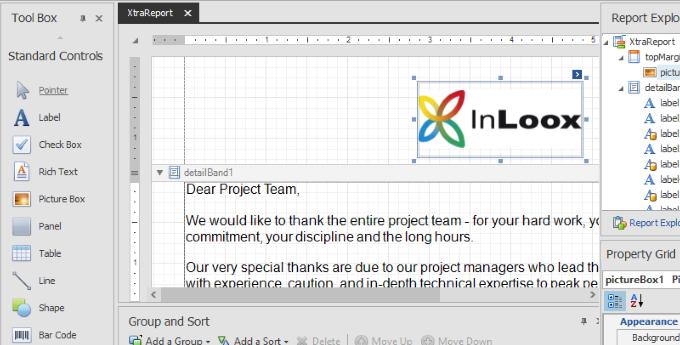 InLoox Report Designer