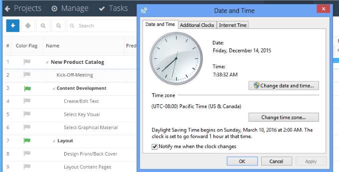 InLoox 9 Time Zones