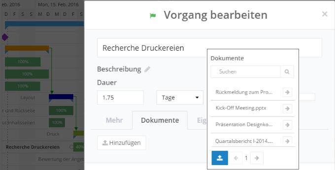 InLoox 9 Vernetzung von Projektinformationen