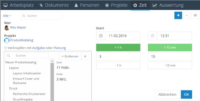 InLoox 9 Zuordnung zum Projektplan
