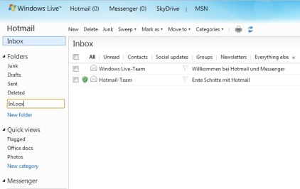 Outlook with Hotmail and InLoox PM