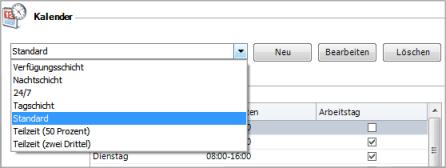 Individuelle Arbeitszeitkalender