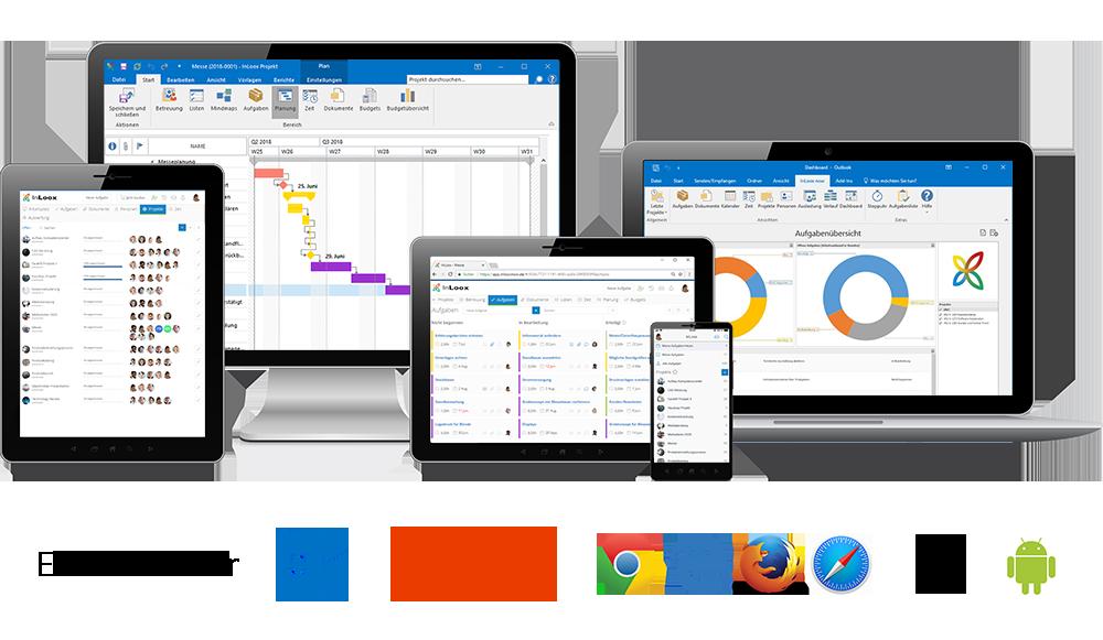 InLoox ist die Projektmanagement-Software für Outlook, Web und Smartphone. Projektmanagement, überall und jederzeit, und auf jedem Gerät.