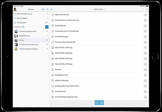 InLoox Mobile App: Dokumente