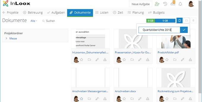 InLoox Web App: Intellgentes Speicherkonzept