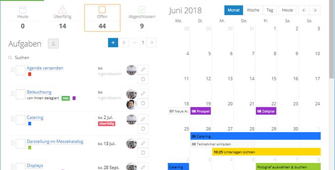 InLoox Web App: Persönliche und Team-Aufgaben