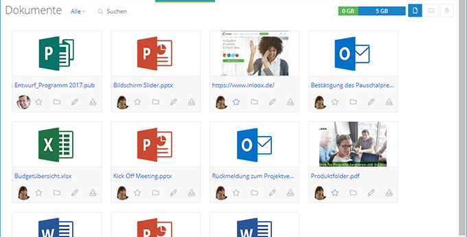 InLoox Web App: Zentrale Dokumentenablage
