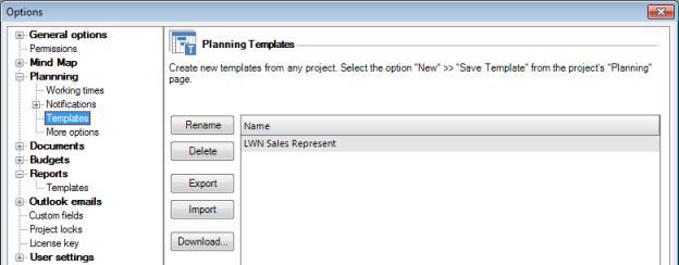 InLoox Planning Template