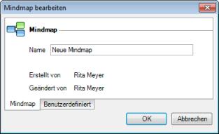 Mindmap Dialogfesnter