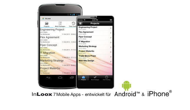 InLoox 7 Mobile Apps für iPhone und Android