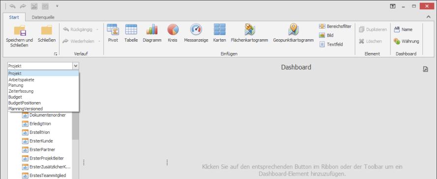 Neuer Dashboard-Designer