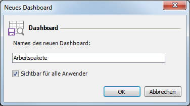 Neues Dashboard