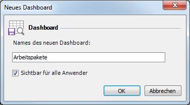 Neues Dashboard