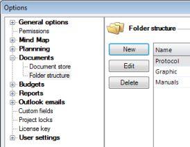 Options Folder Structure
