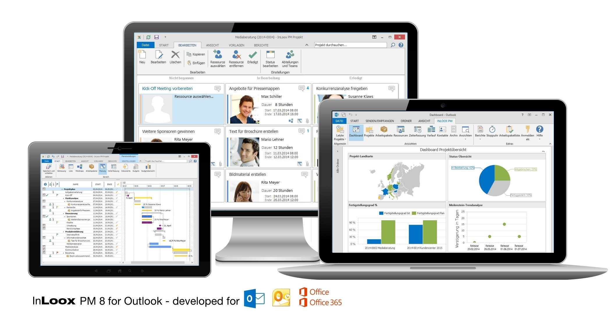 InLoox PM 8 for Outlook - Project Management Software Perfectly Integrated with Microsoft Outlook