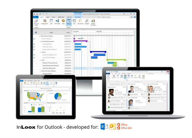Project software as a service - InLoox now! for Outlook