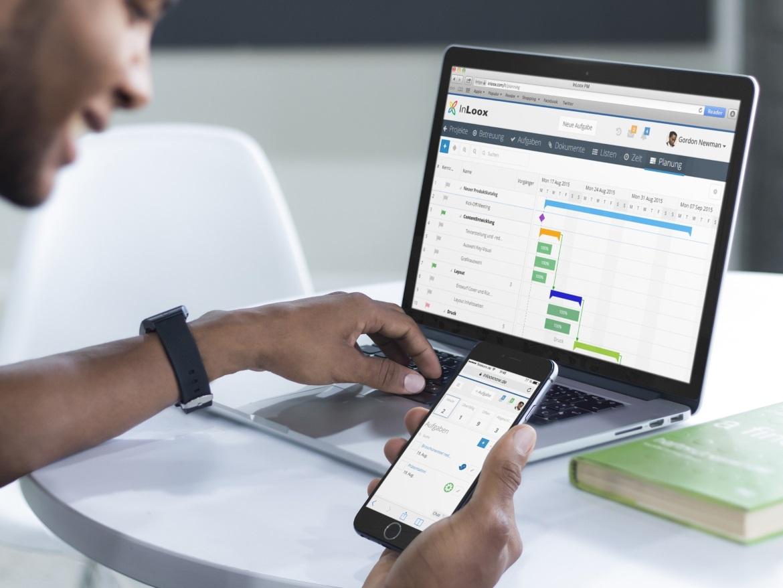InLoox - immer auf allen Geräten auf Ihre Projekte zugreifen