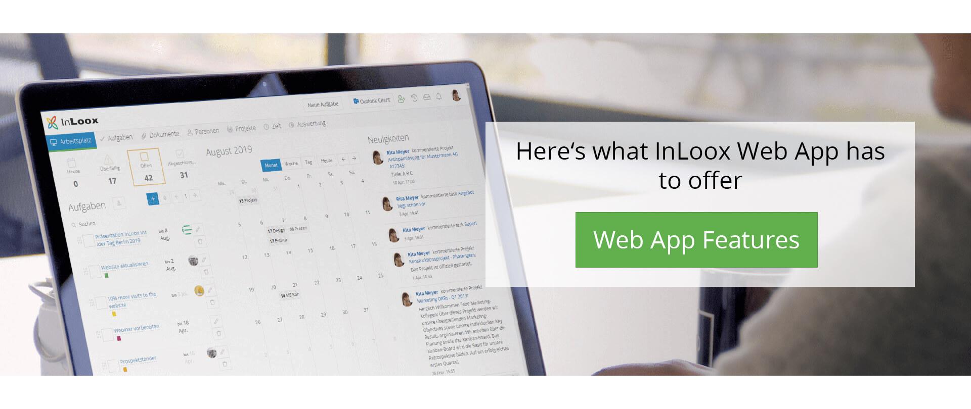 InLoox Web App for Mac, iPhone and iPad