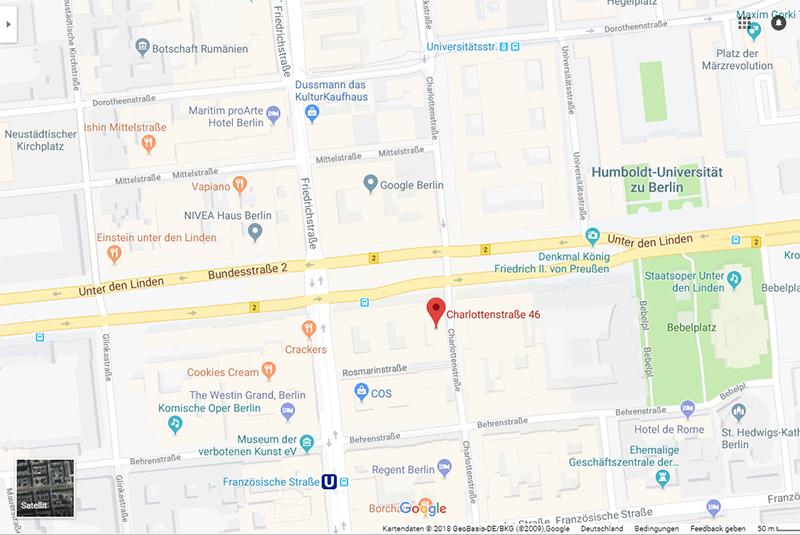 Microsoft Berlin, Unter den Linden - Eingang Charlottenstraße 46, 10117 Berlin