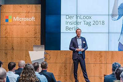 Eröffnung des InLoox Insider Tages 2018 in Berlin durch InLoox CEO Dr. Andreas Tremel