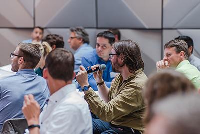 Viele Fragen im Anwenderstream am InLoox Insider Tag 2018 in Berlin