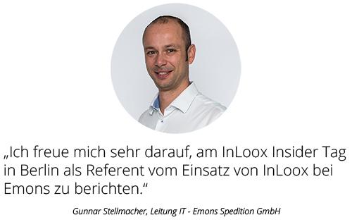 Gunnar Stellmacher, Leiter IT - Emons Spedition GbmH