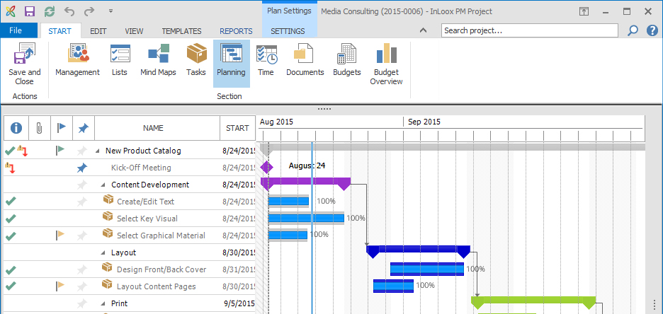 InLoox project planner